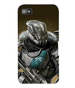 printtech Game Hero Warrior Back Case Cover for Blackberry Z10