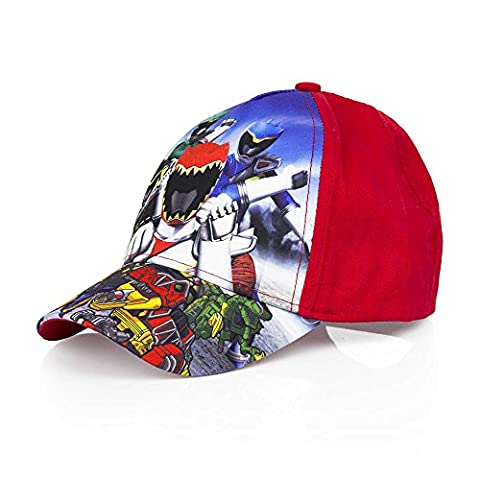 Boys Kids OFFICIAL Various Superhero Character Power Ranger Baseball Caps Summer Hat Size 52cms (Age 2-4) 54cms (Age 4-8) (54 cms (Ages 4-8), Red EP4269)