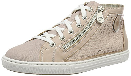 Rieker Damen L0930 High-Top, Gold (Rose/Rose/Lightrose/Argento/32), 41 EU (High-top-rose)