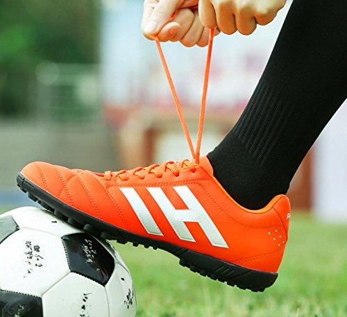 HYLM Scarpe da calcio Scarpe sportive Nuove scarpe da calcio per la formazione del calcio Scarpe sportive all'aperto 610nailsorange