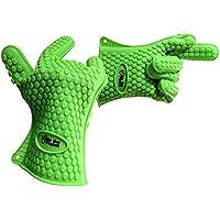 Premium par de resistente al calor de silicona barbacoa guantes grado comercial | ideal para uso w/su parrilla, fumador, horno, chimenea y más