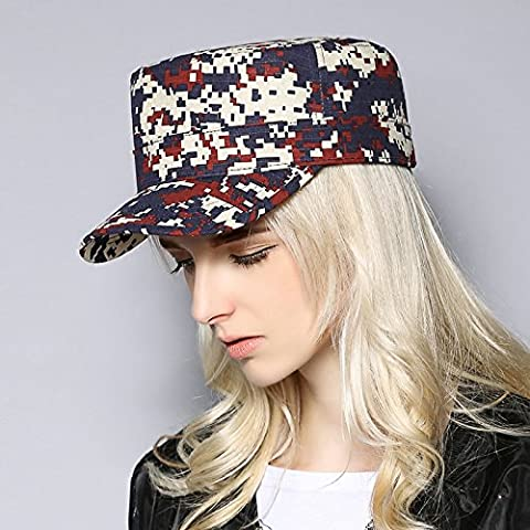 FQG*Cotton digital camouflage caubeen men and women, Outdoor Tour riding military forces HATS , Wine red