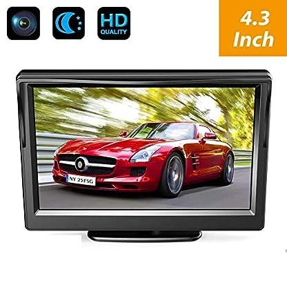 HD-Wasserdicht-Dach-Rckfahrkamera-Farbkamera-ersetzt-dritte-Bremsleuchte-Kamera-Nachtsicht-fr-MB-Mercedes-Sprinter-W906-1500-2500-VW-Crafter-43-Zoll-Monitor-TFT-Bildschirm-LKW-KFZ-LCD-Display