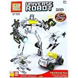 Powerpak Legao Model Universe Robot - Raid - Building Blocks 3D Puzzle Educational Toy For Ages 6+ (100 Pieces) - Assemble Them Into Robots, Cars, Planes, And Other Different Models