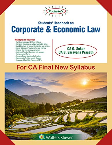 Padhuka's Students Handbook on Corporate and Economic Law: for CA Final New Syllabus