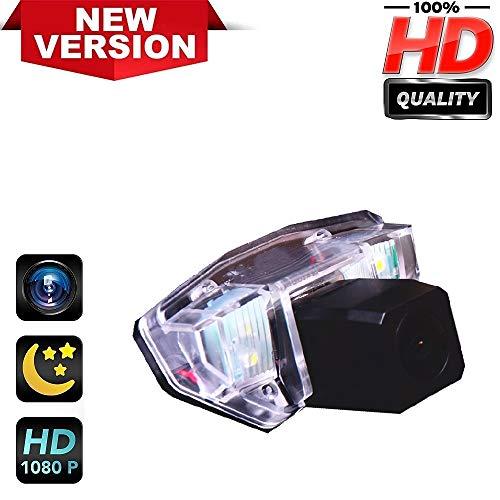 Rückfahrkamera HD1280 x 720p Rückfahrkamera für Nummernschild, Nachtsicht, IP69k, wasserdicht, für Honda Fit Limousine CRV Odyssey Crosstour (Honda Fit Zubehör 2009)