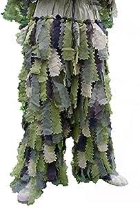 Ghillie Suit Ou Tenue Camouflage 3 Pieces Camo Oak Leaf 3d Feuille De Chene Avec Sac De Transport Miltec 11961520 M/l Airsoft