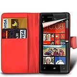 Microsoft Lumia 435 Premium PU Leather Wallet Flip Skin