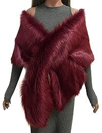 b49f485cb0a Samber Estolas para Fiestas Mujer de Pelo Sintético Chales Decoración para  Vestidos