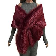 Samber Estolas para Fiestas Mujer de Pelo Sintético Chales Decoración para Vestidos