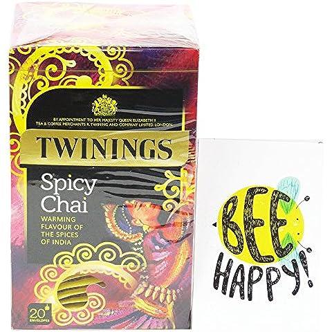 TWININGS - Spicy Chai - Thè Nero Speziato con Cannella e Zenzero - 20 Filtri