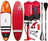 Fanatic Fly Air Premium 9.8 inflatable SUP Windsurf Stand up Paddle Board Komplett Set