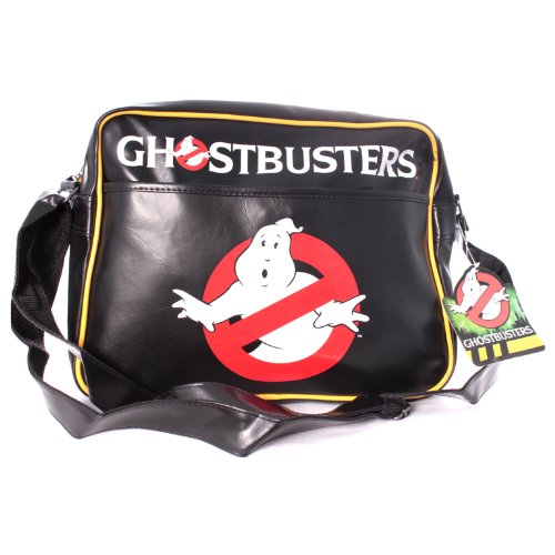 Premium Ghostbusters Classic Logo Messenger Bag (Black)