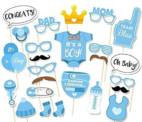 25pcs Funny fête Photo Booth DIY Kit pour fête d'anniversaire de mariage, Evetns et fonctions de mariage