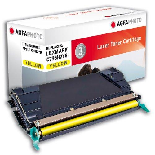 Preisvergleich Produktbild AgfaPhoto aptl736h2ye Toner für Laserdrucker (10000Seiten, Lexmark, gelb) schwarz