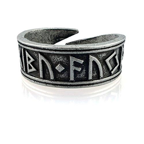 URBANTIMBER Anillo nidhogg Vikingo Rune tiwaz–Plata