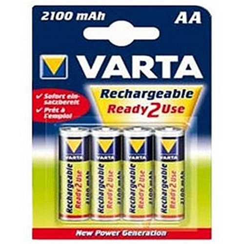 Piles rechargeables 56706 / HR6 / LR06 - 2100mAh - Blister de 4 - Multicolore