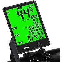 KASTEWILL Speedometer Wireless Multi-Function Large LED Backlight Display Cycle Computer Waterproof Bike Odometer Speedometer