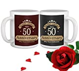 Best Brother In Law Mugs - Tied Ribbons Golden jubilee 50th Wedding Anniversary Gift Review