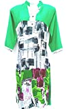 Shafiqua Green printed kurti,Alphabetic Abstract Print Kurti Fashionable Kurti For Woman And Girls