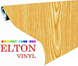 Elton Maple Oak Wood Adhesive Decorative Vinyl Shelf Liner 12 X 24 Inches