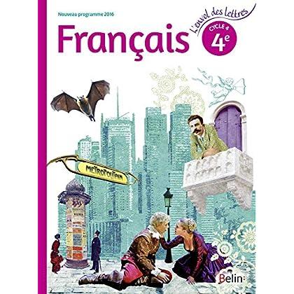 Français 4éme cycle 4 livre de l'élève - Grand format - Nouveau programme 2016