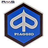 Emblem Piaggio Hexagon Cascade for Vespa Sprint Rally etc–Aluminium, 49x43mm