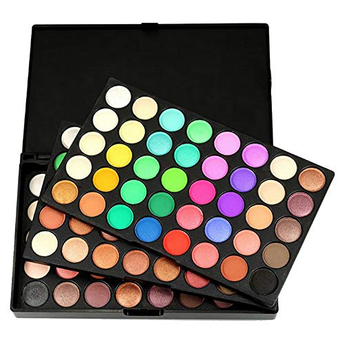 Manooby 120 Farben Lidschatten Matt Schimmer Glitzer Makeup Paletten Natürlich Kosmetik Eyeshadow Professional Box -