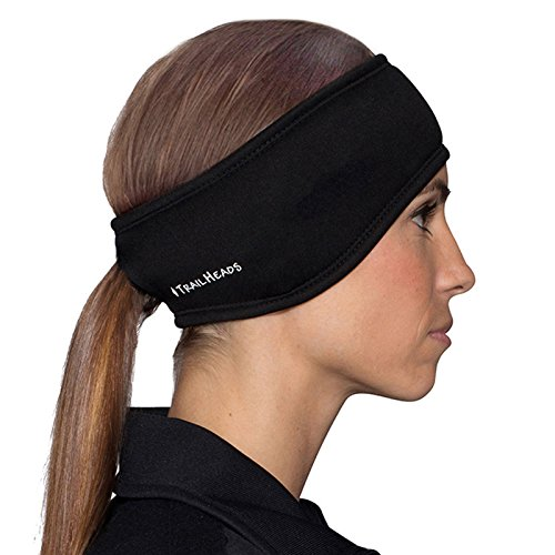 TrailHeads Women's Power Pferdeschwanz Stirnband - schwarz