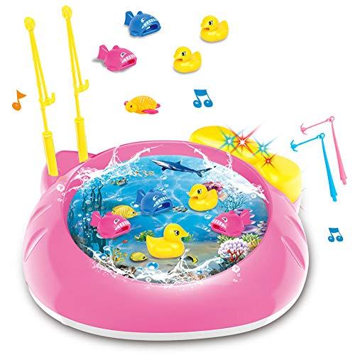 WEISY Angelspiel Spielzeug Set, Magnet Angelrute Fisch Modell Set-Meerestiere Kinder Angelspiel Lernspielzeug für 3 Jahre alt