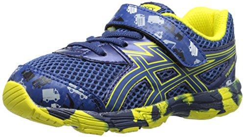 ASICS Turbo TS Running Shoe (Toddler), Indigo Blue/Blue/Flash Yellow, 4 M US Toddler
