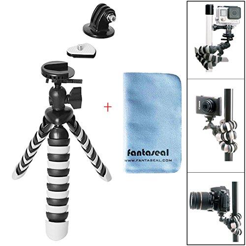 Fantaseal® mini treppiede robusto polpo per fotocamera e action camera gopro 2-in-1 gorillapod flessibile supporto per treppiede treppiede all'aperto treppiede da tavolo tripod portatile da viaggio con piastra di sgancio rapido + testa della sfera per nikon canon pentax sony olympus panasonic dslr camera / videocamera gopro hero5 / 4 / 3+ / 3 / session sony hdr as-10 15 20 30 50 100 az-1 fdr x1000vr garmin virb xe sjcam sj4000 sj4000wifi sj5000 xiaomi yi xiaomi yi 4k dbpower qumox akaso apeman