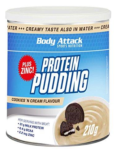 Body Attack Protein Pudding, Cookies und Cream, 210g Dose (Dosen Pudding)