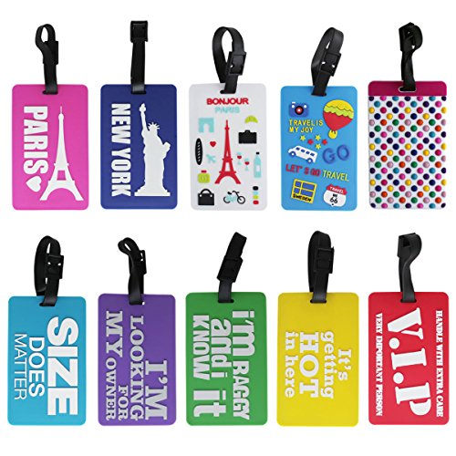Luggage Tag Funky Quotes - Pack of 10 (1i541) - Bag Travel Tags
