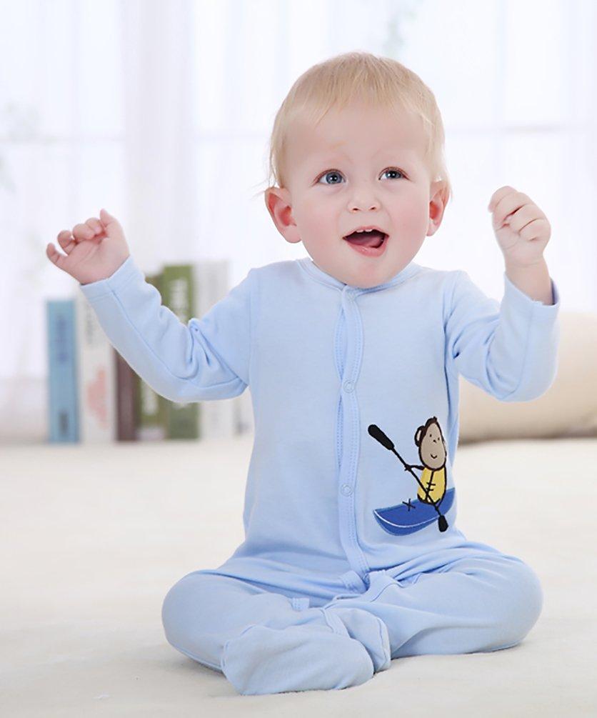YOUJIA - Pijamas Bebe - Manga Larga - Paquete de 3 - Jumpsuit - para Bebé Niños y Niñas 3