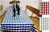 Brandsseller Tischdecke für Biertische/Wachstuch / Biertisch-Decke/Abwaschbar/Größe ca. 70 x240 cm/Farbe: Blau