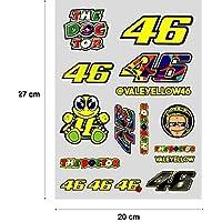 PEGATINA STICKER ADESIVO AUFKLEBER DECALS AUTOCOLLANTS VALENTINO ROSSI PLIEGO (27 cm x 20 cm) 16 unidades REF1