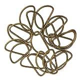 Fenteer 100 x Metall D Ring für Gürtelschnallen Taschen Gürtel - Bronze, 38x20x2.8mm