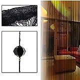 Nachahmung Kristall Perlen Quaste String Vorhang Tür Fenster Home Decor Teiler 1 x 2M schwarz