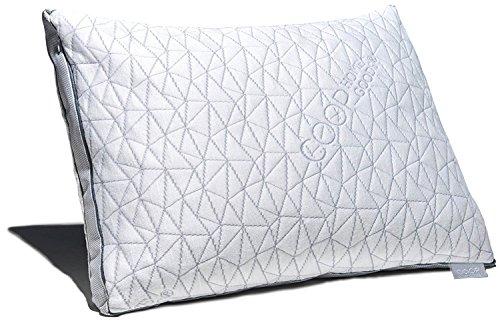 Coop Home Goods Waren das Eden-Kissen - Ultra Tech decken mit Zwickel - einstellbare Füllung verfügt über kühl- und hypoallergenen Gel und Diamantstaub infundiert Memory-Schaum Queen Weiss -