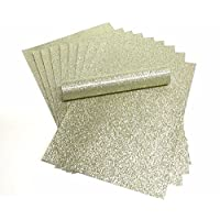A4 Glitter Paper LIGHT GOLD Sparkly Soft Touch Non Shed Thick 150gsm Paper Pack of 10 Sheets