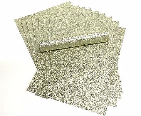A4 Glitzer Papier Gold Sparkly Soft Touch Fusselfreier Dick 150 gsm Papier Pack 10 Blatt (Glitter Blätter)