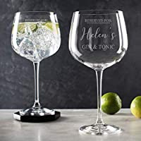 "Personalised Gin Glasses for Women/Copa de Balon""Reserved for Gin & Tonic"" Glass/Gin Lovers present/Gin Christmas Birthday gifts for Women"