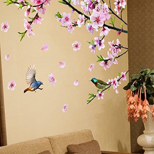 MiniWall Das Wohnzimmer Schlafzimmer Sofa Tv Wand Wand Dekorationen Aufkleber Animation kreative Mahagoni Wallpaper Wallpaper, auf die Peach Blossom, König