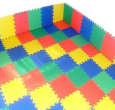 9 pc Outdoor/Indoor Protective Flooring Mats - Interlocking Reversible Floor Matting suitable for Gym, Play Area, Exercise, Yoga - 9 tiles (22 SQ.FT) produced by FunkyBuys - quick delivery from UK.