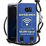 DeinDesign Samsung Galaxy S7 Edge Carry Case Hülle Zum Umhängen Handyhülle mit Kette WLAN Lustig Funny