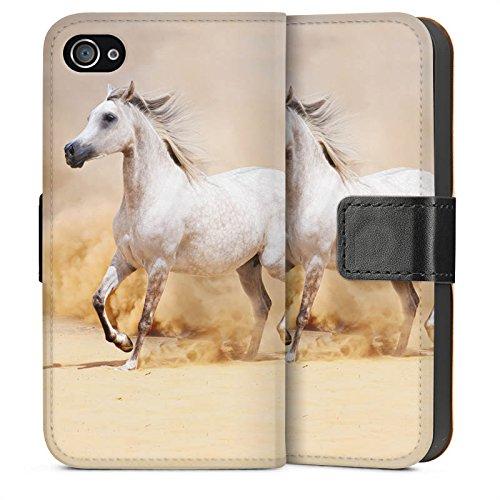 Apple iPhone 5s Housse Étui Protection Coque Cheval Désert Cheval Sideflip Sac