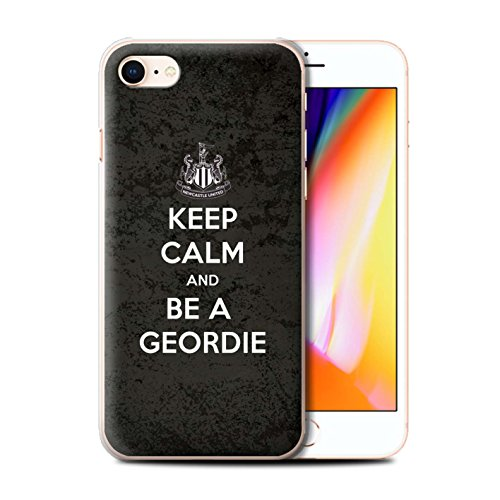 Offiziell Newcastle United FC Hülle / Case für Apple iPhone 8 / Sehen NUFC Muster / NUFC Keep Calm Kollektion Geordie