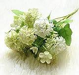 WFQJH Hortensia Fleurs Artificielles Boule Bouquet Fausses Fleurs Soie DIY Décor À La Maison Faux Fleurs Décoration De Mariage Table Bouquet 9 Têtes B