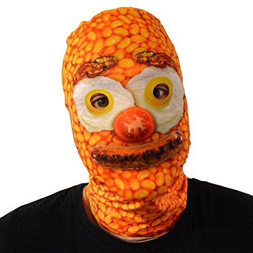 unheimlich Halloween Gesichtsmaske Baked Bean Frühstück Gesicht Kostüm Horror (Halloween Erwachsene Kostüme Kälte Für)